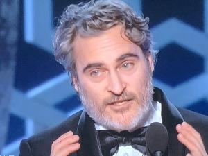 Joaquin Phoenix.  It's the best he has ever looked! Photo by Karen Salkin.