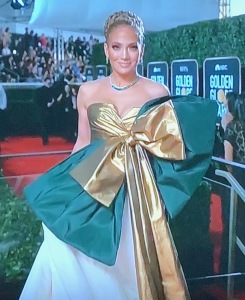 Jennifer Lopez's awful dress. Photo by Karen Salkin.