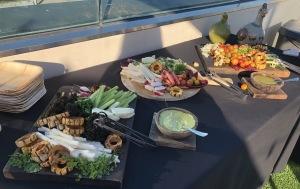 The veggie buffet. Photo by Karen Salkin.