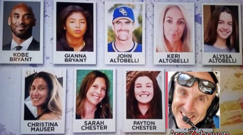 The nine people who perished in that horrific helicopter crash.