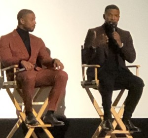 Michael B. Jordan and Jamie Foxx. Photo by Karen Salkin.