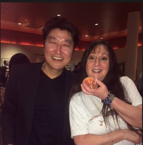 Song Kang-ho and Karen Salkin.  Photo by Denise Wilke.