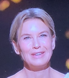 Renee Zellweger's powder-earring-and-lipstick-needing face. Photo by Karen Salkin.
