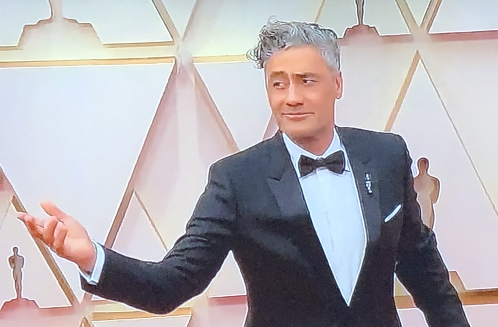 Taika Waititi doing one of his funny red carpet poses.  Photo by Karen Salkin.