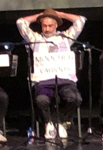 Taika Waititi! (The sign in front of him says his character's name.) Photo by Karen Salkin.