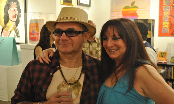 Karen Salkin (on the right) with Oscar-winning lyricist, Bernie Taupin. Photo by Israel Granados.