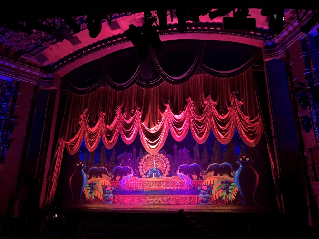 The spectacular curtain-raising at the El Capitan. Photo by Karen Salkin.