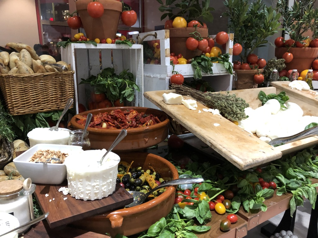 The stunning antipasto buffet on the way in. Photo by Karen Salkin.