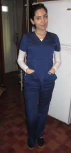 Betsy Abramova when she was first becoming a nurse a few years ago. Photo by Karen Salkin.