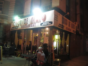 Cinco de Mayo restaurant in Brooklyn, New York. Photo by Karen Salkin.