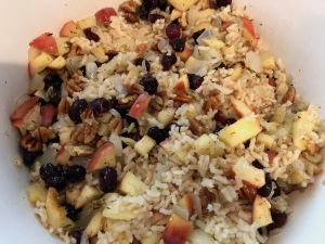 Karen Salkin's Brown Rice Pilaf. Photo by Karen Salkin.