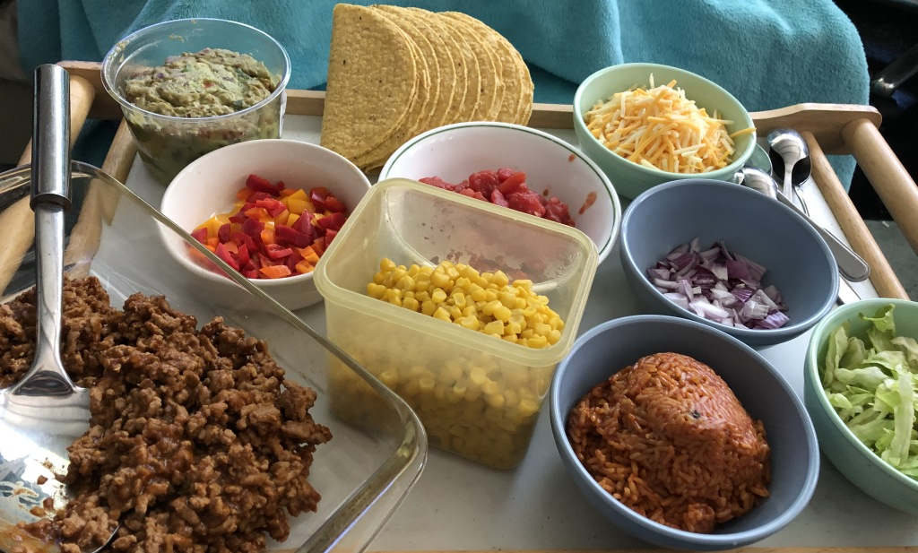 Karen Salkin's Cinco de Mayo foodfest!  Photo by Karen Salkin.