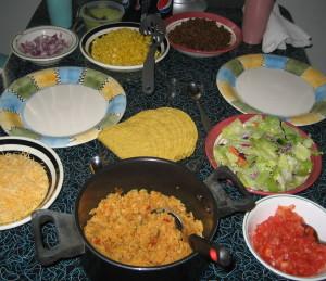 Karen Salkin's homemade Cinco de Mayo feast. Photo by Karen Salkin.