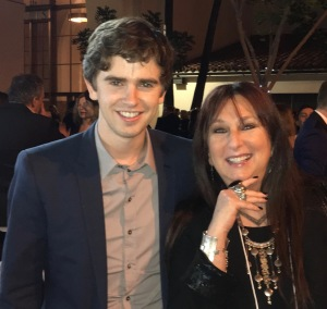 Karen Salkin and Freddie Highmore, the star of The Good Doctor. Photo by Lisa Politz.