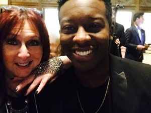 Karen Salkin and Brandon Micheal Hall, right before he got the lead role on God Friended Me. Photo by Karen Salkin.
