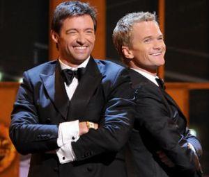 Hugh Jackman and Neil Patrick Harris at a previous Tony Awards show.