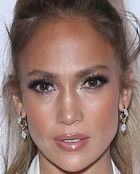 Doesn't that middle-to-upper part of JLo's nose look like she's had some not-fun surgery on it?