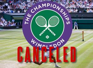No Wimbledon this year.  (And apparently, no one who can spell announcing that it was canceLLed!)