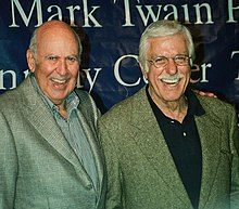(L-R) Carl Reiner and Dick Van Dyke, many years after their show.