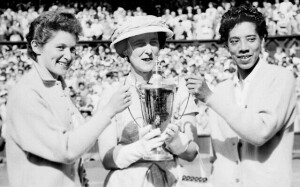 (L-R) Angela Buxton, the Duchess of Kent, Althea Gibson.
