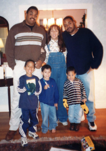 Me with members of Omar's family back in the day, all of whom I'm still friends with.