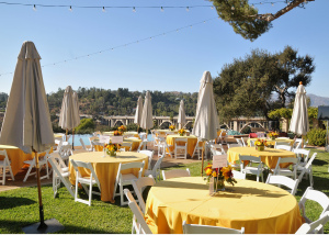The beautiful set-up for this event in 2019. Maybe you can do a smaller version in your own backyard this year! The Laurabelle A. Robinson estate in Pasadena. Photo courtesy of the AbilityFirst Festival of Fall.