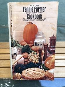 My original Fannie Farmer Boston Cooking School Cookbook. And yes--I DO still have it! Photo by Karen Salkin.