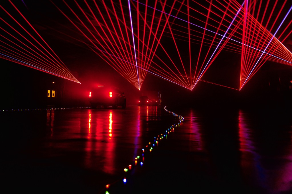 The first part of the light show.  Photo courtesy of HIYC.