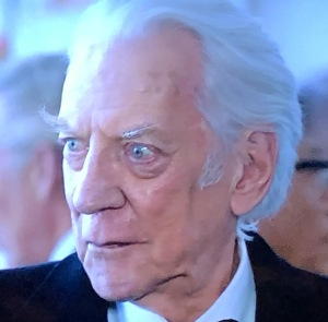 How does Donald Sutherland not know enough to trim his insane eyebrows???  Photo by Karen Salkin.
