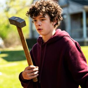 Noah Jupe, discovering the murder weapon.
