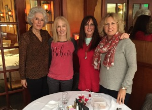 A Christmas Eve ladies luncheon two years ago, at a famous restaurnat that's now also closed. (L-R) Celia Montgomery, Jeanine Anderson, Karen Salkin, Carol Gleicher. Oh, how I miss days like that one!