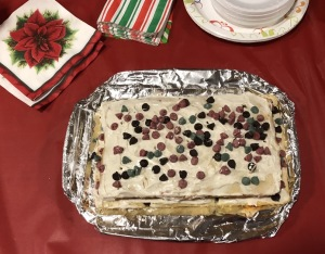 Karen Salkin's Chocolate Chip Christmas Cake. Photo by Karen Salkin.  (Duh.)