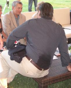 Sweaty Alec Baldwin in the Hamptons. Photo by Karen Salkin.