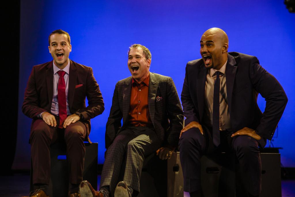 (L-R) Ryan Vona, Andy Einhorn, and Nicholas Christopher. Photo by Jeff Lorch.