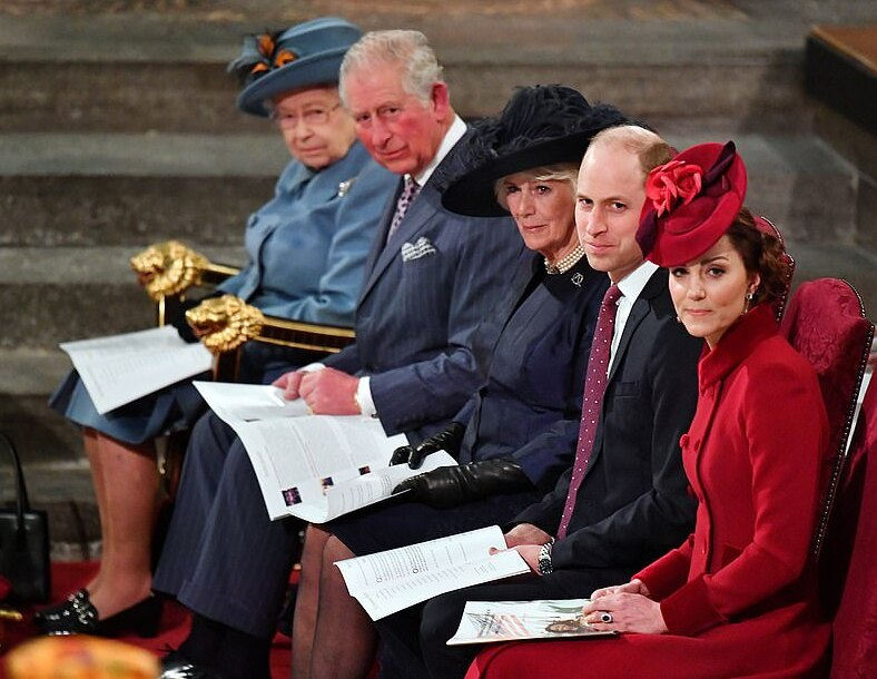 The Senior Royals, all of whom I respect: (L-R) Queen Elizabeth, Prince Charles, Camilla, Prince William, and Kate.