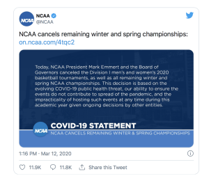The sad March Madness cancellation.