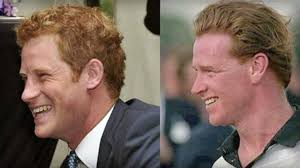 Prince Harry and his mother's ex, James Hewitt.  I'm just sayin'.