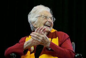 Adorable always smiling Sister Jean.