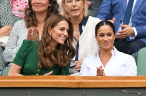 Kate, being kind, as usual, to Meghan at Wimbledon not even two years ago.