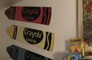Just one tiny glimpse of my Crayon Room.  Photo by Karen Salkin.