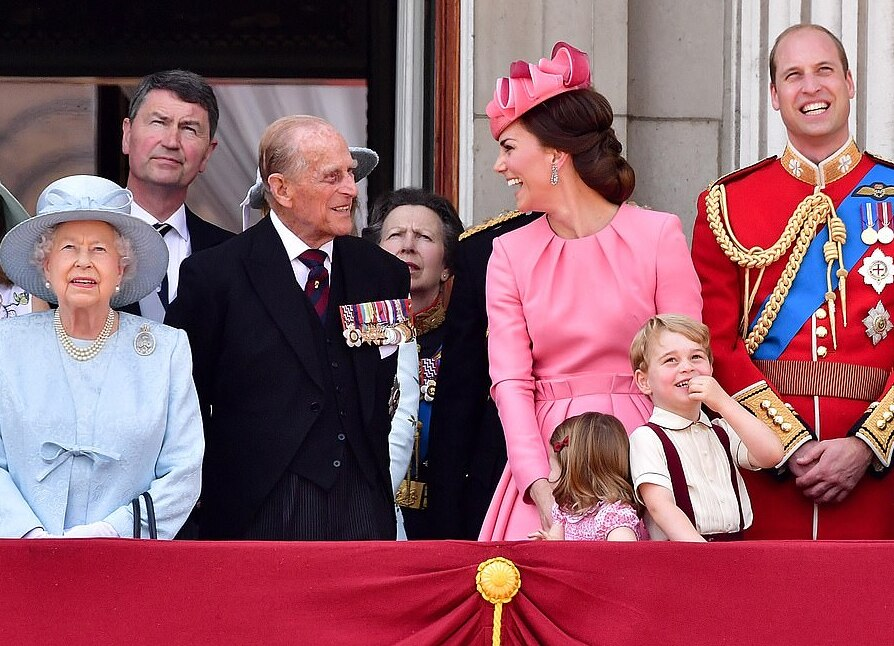 I love that Prince Philip is making Kate laugh so hard!