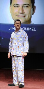 Even Jimmy Kimmel, my favorite current talk show host, has gotten into the fun on occasion. (And by the way--I own tons of PJs that are similar to his.)