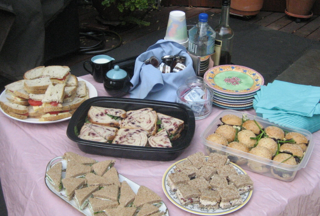 Part of an Afternoon Tea I threw for a few of my friends several Easters ago.  Photo by Karen Salkin.