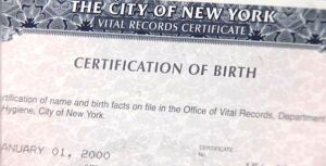 NYC birth certificate, with at least my correct birth month.