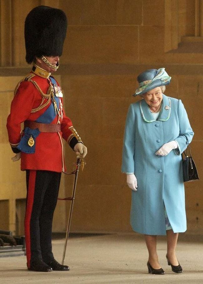 Mr. X's favorite picture of Prince Philip and the Queen. We think the Prince must have surprised her in it.