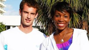 Andy Murray and Venus Williams waaay back in the day!