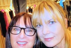 Karen Salkin with her best girlfriend in New York, Lauren Bennett.
