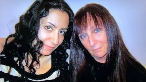 "Karen Salkin with her best Brooklyn friend, (and ""little sis,"") Betsy Abramova."