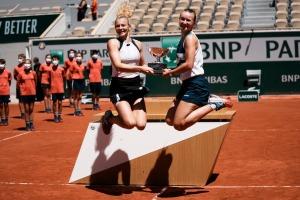 French Open Champs Barbora Krejcikova and Katerina Siniakova.