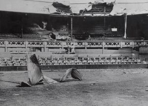 Sadly, this is what the Wimbledon courts looked like during the second World War.